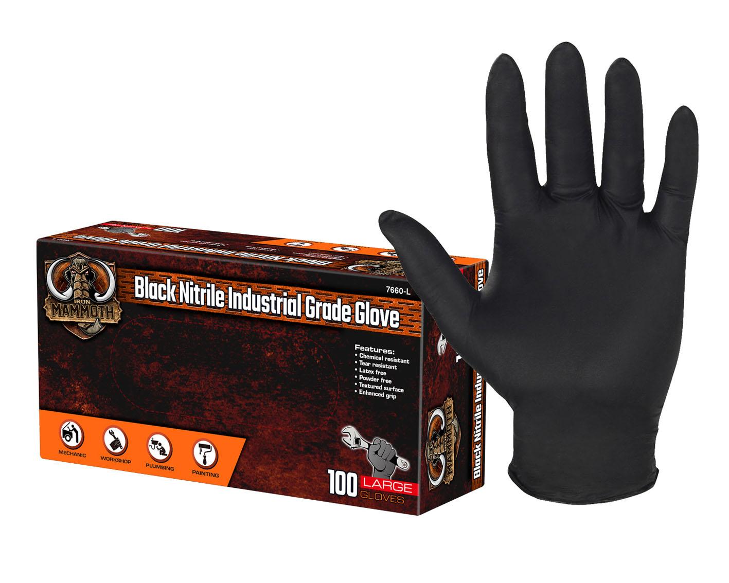 Black Nitrile Industrial Grade Glove