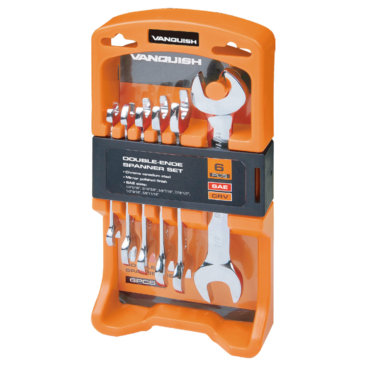 6-PIECE DOUBLE-ENDED  SPANNER SET