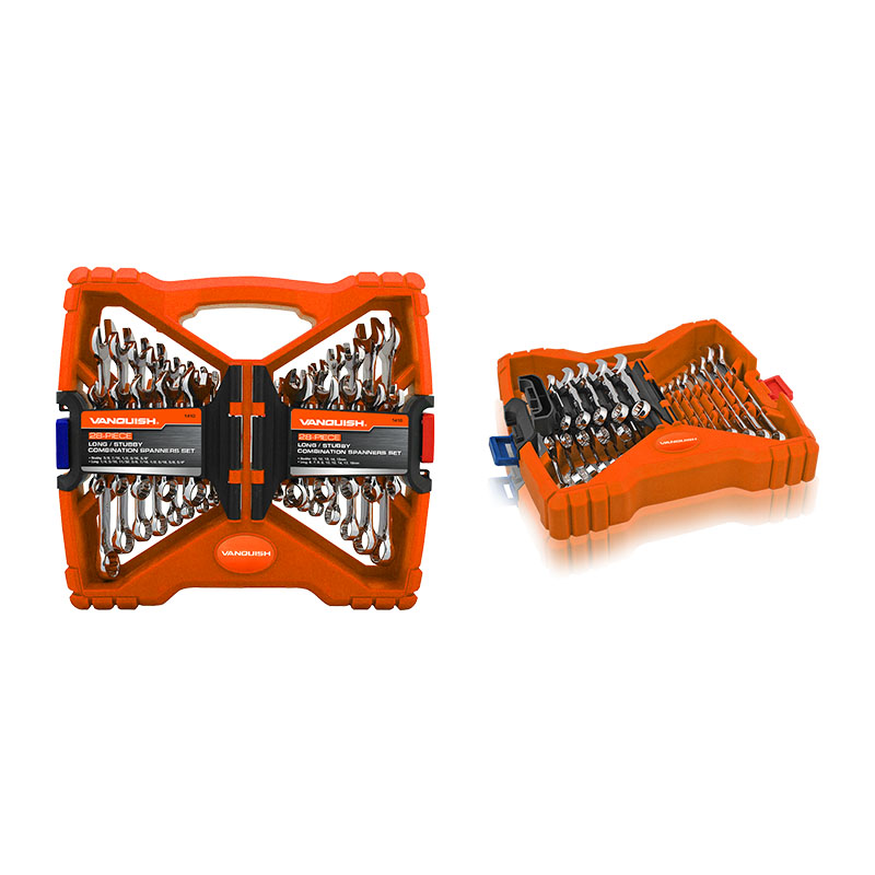 28-PIECE LONG / STUBBY COMBINATION SPANNERS SET